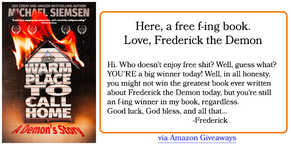 Frederick Amazon Giveaway