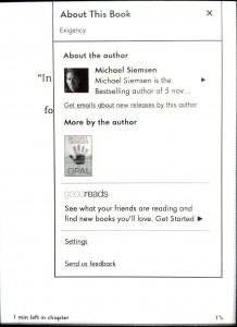 Kindle about the author update