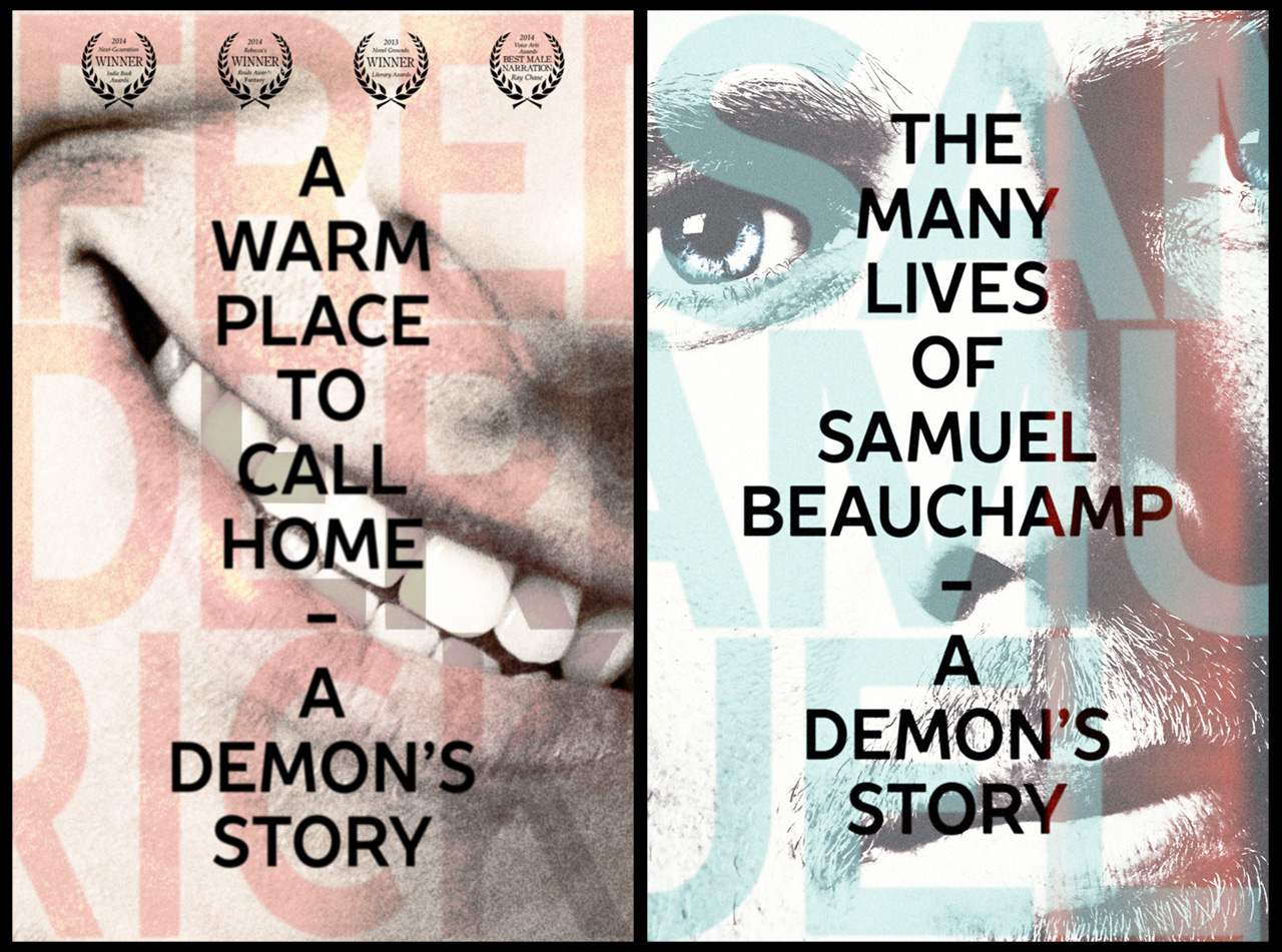2015 covers of A Warm Place to Call Home and The Many Lives of Samuel Beauchamp