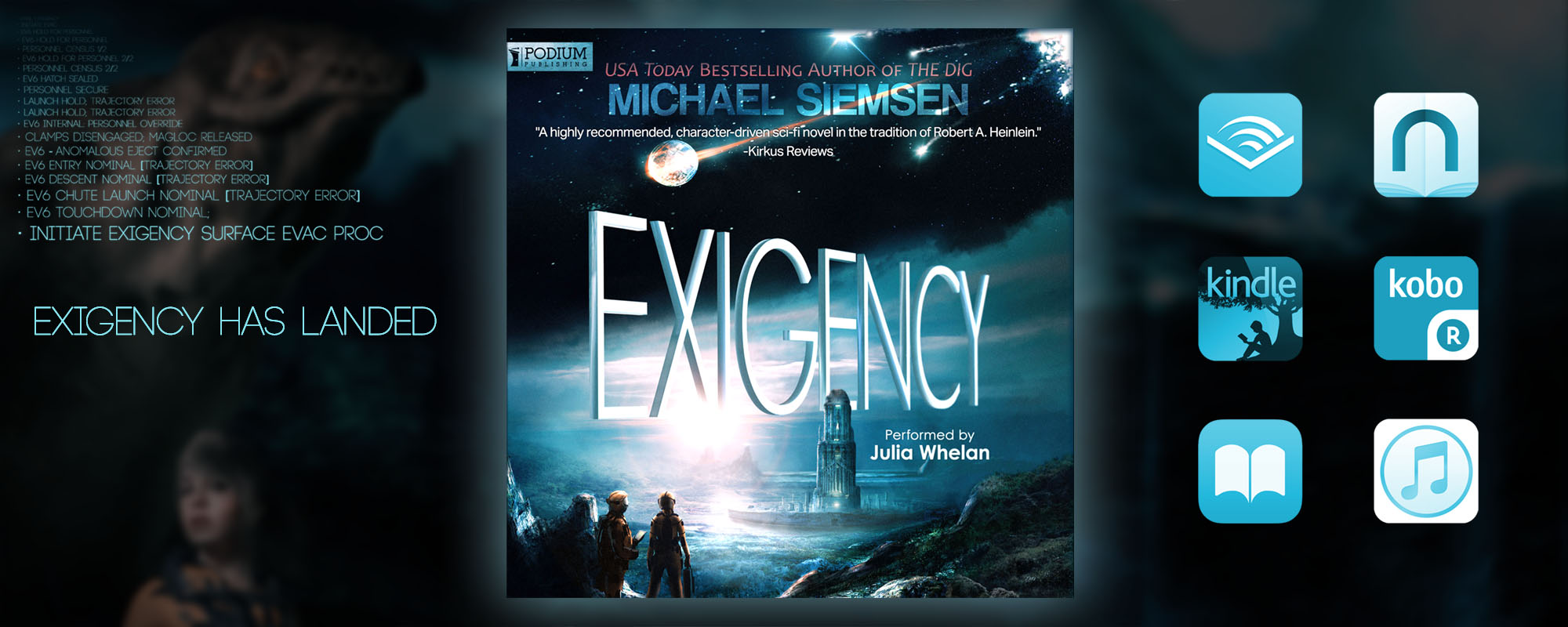 a warm place to call home by michael siemsen reviews a place called home book Exigency Audiobook Release Banner